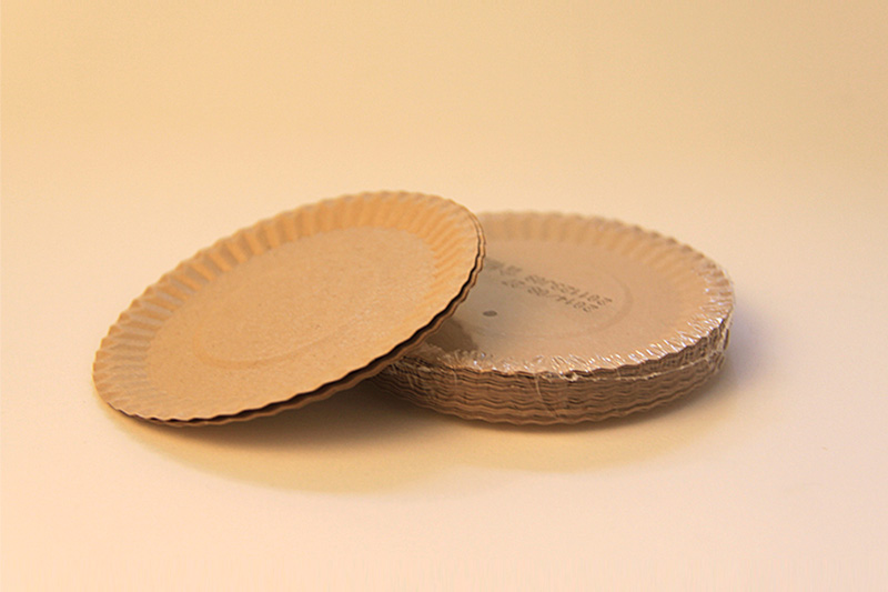 Natural paper plate